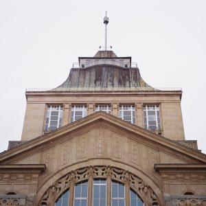 Szczecin – Wały Chrobrego. Korpus wieżowy Muzeum Narodowego.