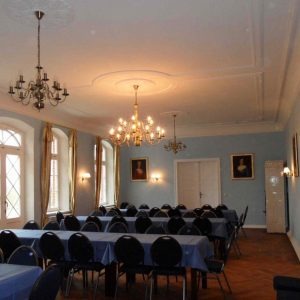 Niemcy. Rybnitz Damgarden – Gutshaus Putnitz. Grosse Saal.