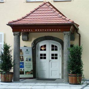 Szczecin – Hotel Park. Portyk wejściowy.