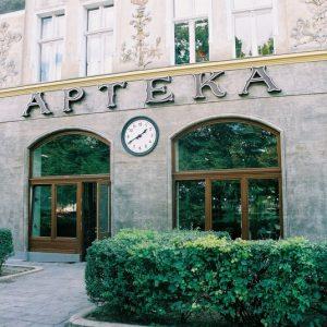 Szczecin – Pl. Grynwaldzki 42. Apteka pod Zegarem.
