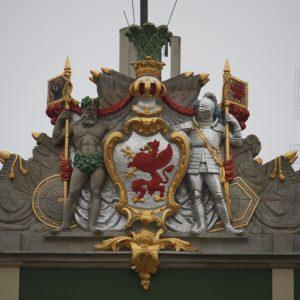 Szczecin – Urząd Miejski. Herb Prowincji Pomorskiej.