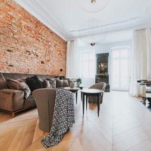 Szczecin – Apartament w kamienicy – salon. Inwestycja prywatna.