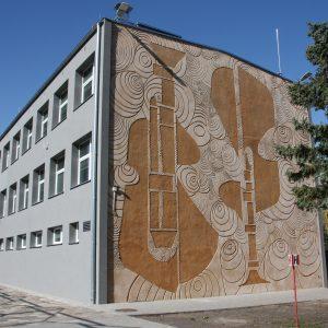 Zespół Szkół Muzycznych i. Grażyny Bacewicz w Koszalinie. Renowacja dekoracji sgraffito