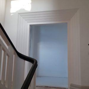 Inwestycja prywatna. Renowacja i częściowa rekonstrukcja wewnętrzynych portali w stylistyce art deco