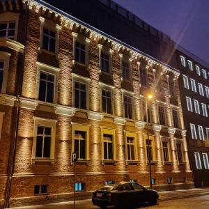 Szczecin – Kamienica narożna u zbiegu ulic 3 -go Maja i Zawiszy.